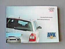 Betriebsanleitung Bedienungsanleitung Ausgabe 2003, Audi A4 B6, Avant