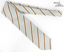 """Luigi Borrelli 7 Fold Striped 3.75"""" Wide Silk/Cashmere Tie"""