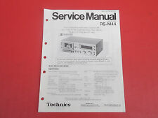 Technics RS-M44 Cassette Deck org. Service Anleitung Manual