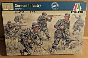 ITALERI GERMAN INFANTRY 1:72 SCALE MODEL SOLDIERS UNPAINTED PLASTIC WW2