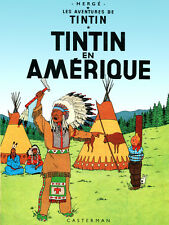"18x24""Decor poster.Interior design Art.Tin dog.French.Tintin in America.6399"