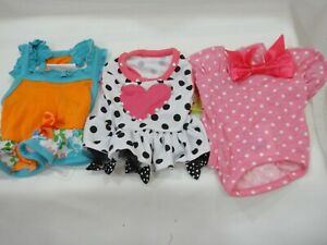 3 TOP PAW Doggie Girl Outfits X Small NEW WITH TAGS