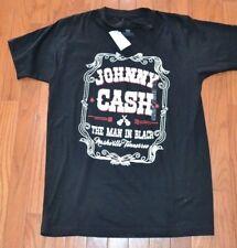 Johnny Cash Destructed Crew Neck to V Neck T-Shirt Size XS UNIQUE!! TEE