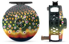 ABEL SUPER 4/5 FLY FISHING REEL IN NATIVE BROOK TROUT, FREE $130 LINE + SHIPPING
