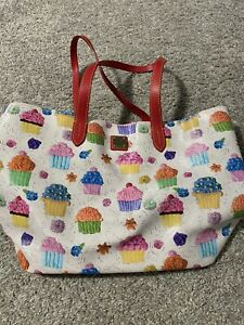 Dooney & Bourke White With Cupcakes - Shopper Tote