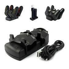 DUAL USB DI RICARICA DOCK STAND CARICABATTERIE PER PLAYSTATION PS3 PS4 PRO Spostare Controller