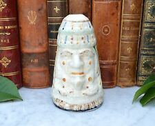 Rare Antique English Creamware Pope and Devil Stirrup Cup Staffordshire Pottery