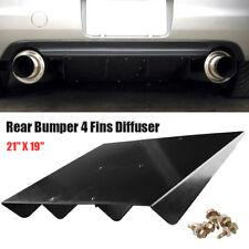 """Rear Bumper Diffuser 22"""" x 19"""" 4 Fins Fin ABS Universal For Mazda Subaru"""