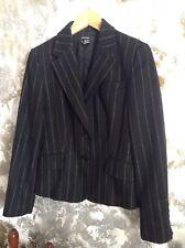 womens jacket size M black wool pinstripe blazer Zara tailored timeless classic