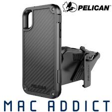 Pelican Shield Carbon Fibre Ultra Rugged Case w/ Holster For iPhone XS / S