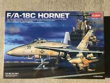 Academy 1:32 F/A-18C Hornet with Weapons & Full Panel Lines Plastic Kit #2191