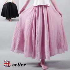 Chiffon Patternless Regular Size Maxi Skirts for Women