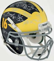 2011 Michigan Wolverines NCAA Champs Team Signed Full Size Helmet PSA DNA