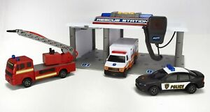 Adventure Force Rescue Station Fire EMS Police Playset