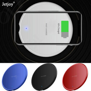 10W Wireless QI Fast Charger Charging Pad For iPhone 11 X Samsung S20 Ultra Plus