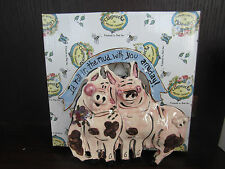 Blue Sky Clayworks Heather Goldminc I'D Roll In The Mud Any Day Pigs Sp50821 new