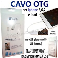 CAVO CAVETTO DATI OTG per IPHONE Micro USB / USB femmina per TELEFONINI IPHONE