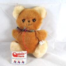 Cuddle Toys 1985 Flat Bear Squeaker in Foot Plush Paper Hang Tags Douglas