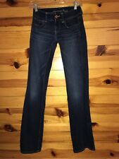 *AMERICAN EAGLE* Women's Juniors Stretch SLIM BOOT Jeans EUC Size 00 Long