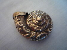 ** QUIRKY BRASS NAUTILUS SHELL SNUFF BOX CASE COLLECTABLE GREAT GIFT **