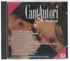 CANTAUTORI ITALIANI IN DUE DE ANDRE BATTIATO GABER COCCIANTE VASCO ROSSI CD NEW