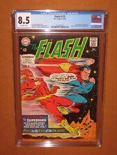 FLASH #175 CGC 8.5! 2nd Superman vs. Flash RACE (+ JLA)! 12 HD pix Ships INSURED