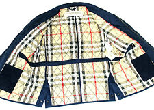 LUXURY GORGEOUS MENS BURBERRY LONDON PADDED QUILTED NAVY JACKET COAT 42R