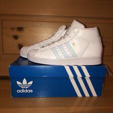 Adidas Men's Originals Pro Model FV4492 White and Light Blue Shoes Size 7