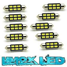 10x Soffitte 6 SMD LED Xenon Weiss 39mm C5W Canbus Innenraumbeleuchtung