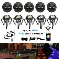 10Pcs Black Smart Wifi Half Moon 35mm RGB 12V LED Deck Stair Step Fence Lights