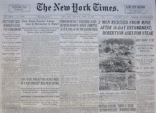 4-1936 WWII April 23 ETHIOPIAN REVOLT REPORTED IN NORTH AS ITALIANS GO; SELASSIE