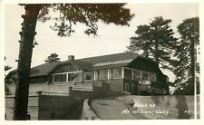 1930s RPPC Postcard 45 Hotel atop Mt. Wilson CA Limosine alongside Sunroom
