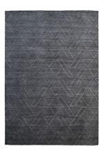 Tapis noirs pour la maison en 100% laine, 160 cm x 230 cm