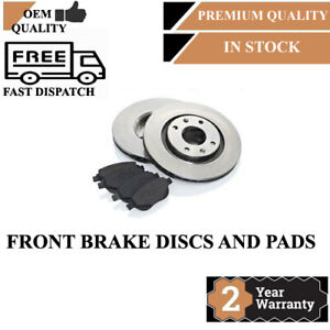 FRONT BRAKE DISCS AND PADS FOR MERCEDES-BENZ 312MM INTERNALLY VENTED 1617 222282