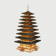 "1/87Scale Korean Temple Wooden Pagoda ""Miruksaji 9-Story Pagoda"" Wood Model Kit"