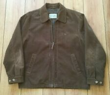 "Magee Mens Jacket Cord 48 in "" Brown Casual Country Cotton Corduroy LG Zip Mans"