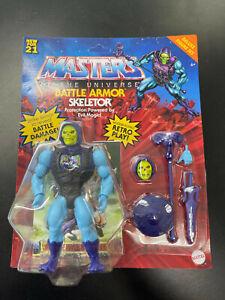 Masters Of The Universe MOTU Battle Armor Skeletor Deluxe Figure Set New For 21