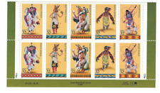 Scott #3072/76. ...32 Cent...American Indian Dances... Plate Block of 10  Stamps