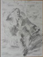 BARNETT FREEDMAN CBE RDI 1901-1958 FINE ORIGINAL PAINTING SEATED FIGURE 1950