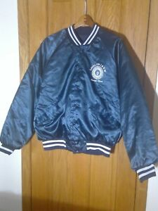 Vintage Satin Look Local 134 IBEW Baseball Jacket - Size XL - Made in the USA!