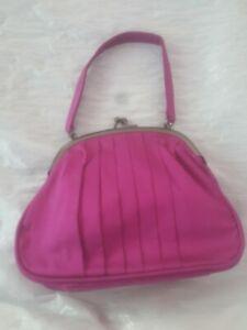 Janie and Jack purple pleated SILK purse handbag VTGE LOOK 2013 special occasion
