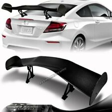 "57"" Type-1 3D Real Carbon Fiber Adjustable Rear Trunk GT Spoiler Wing Universal"
