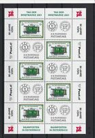 austria  2001 stamp day mint never hinged collectable stamps  sheet ref r12350