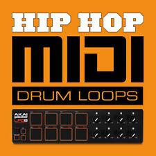 Hip Hop Midi Drum Loops Beats - General Midi Files - Logic Cubase FL Studio etc.