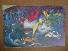 """1969 DLM Vintage Chagall Lithograph """"Chloe is Carried Off By the Methymneas"""""""