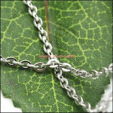 Lot of 5pcs Silver Stainless Steel Rolo cross O link chain necklace 2.3mm*18''