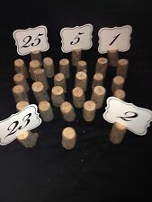 20 Table Markers Wedding Number Holders Wood Slices Stand Event Reception Plan
