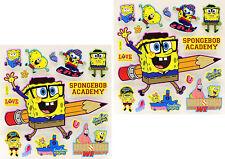 New 3D Scrapbooking Disney Characters Stickers Spongebob 2 Sheets - 38 Stickers