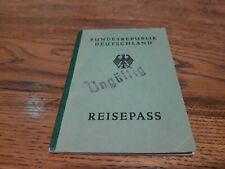 1951 Germany passport issued in Hamburg with visas of Austria Italy Spain