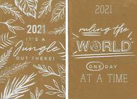 2021 Week To View Diary A5 Casebound Eco Kraft Design Softback Planner Organiser